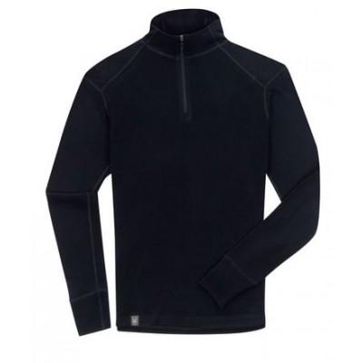 Ibex Sous-vêtement Homme Woolie 150g Zip T Black
