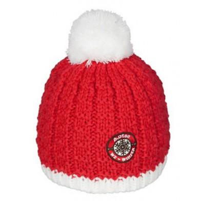 Lhotse bonnet à pompon Ananke rouge