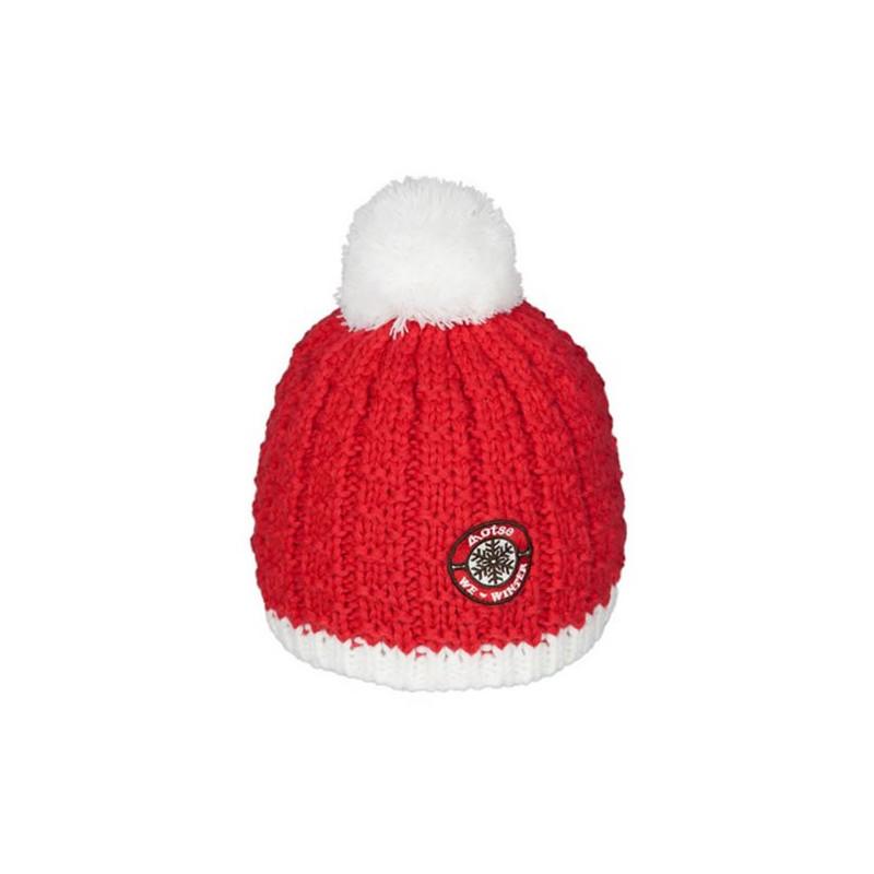 Achat bonnet à pompon Lhotse Ananke rouge 7955e98e22c