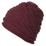 Volcom bonnet femme WARM IT UP BEANIE BURGUNDY