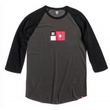 Dc shoes tee shirt homme flag raglan ss anthracite