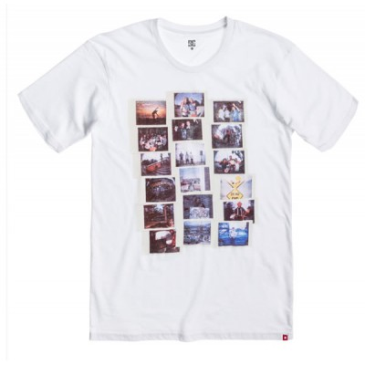 Dc shoes tee shirt homme memento ss white
