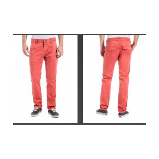 dominik tz chino pant spiced coral