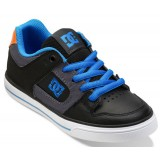 pure kids shoe junior black / grey / blue