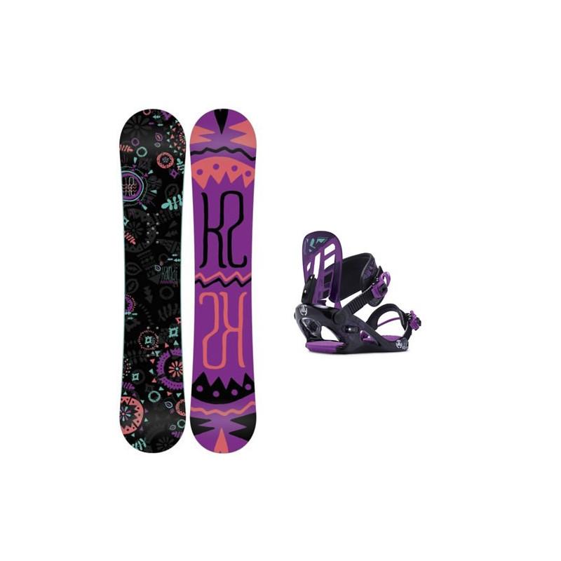 K2 Snowboard PACK kandi + FIX KAT S 2015