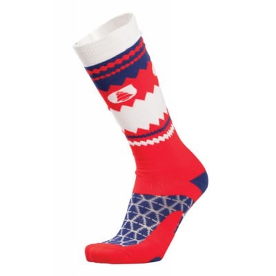 Picture chaussette Ski sky socks RED