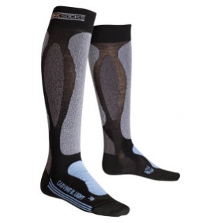X-socks CARVING ULTRALIGHT FEMME NOIR / SKY BLUE