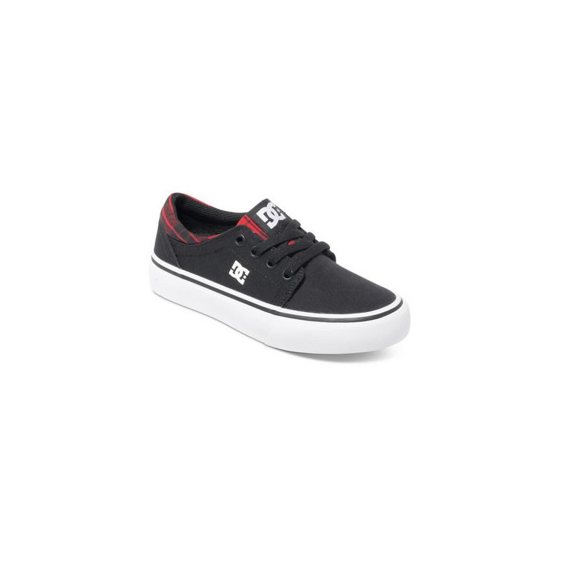 Dcshoes trase tx se black red plaid youth