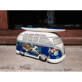 Ocuk CAMPER MONEYBOX GRAFFITI BLUE