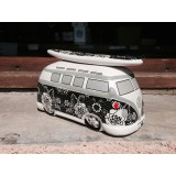 Ocuk CAMPER MONEYBOX FLOWER BLACK WHITE