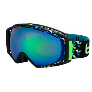 BOLLE Masque ski et snow gravity black diagonal green emerald