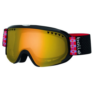 BOLLE MASQUE SKI SNOW scarlett shiny black plaid citrus gold