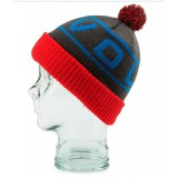 VOLCOM auxin beanie fire red