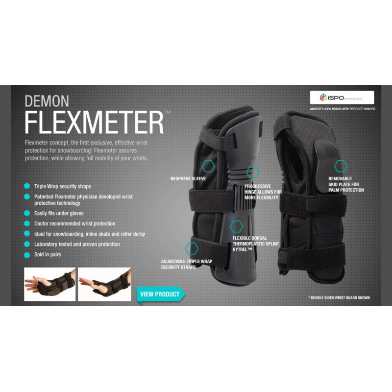 Demon flexmeter wrirst guard double black D3o