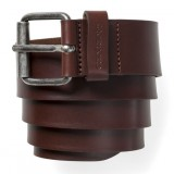 Carhartt script belt cow leather dark brown/ silver