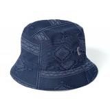 Carharrt Chapeau bucket hat assyut print, blue/ white