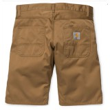 Cahartt skill short 50/50% hamilton brown rinsed no lenght