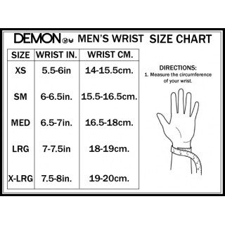 Demon FLEXMETER WRIST GUARD SINGLE BLACK