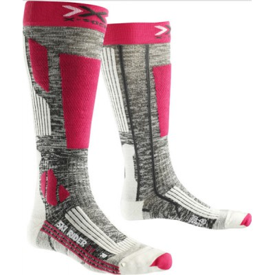X-SOCKS chaussettes de ski femmes ski rider lady 2.0 gr/fush