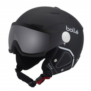 BOLLE CASQUE Backline Visor Premium Soft Black & White With 1 Modulator Silver Visor