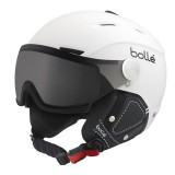 BOLLE CASQUE backline visor premium soft white & black with 1 modulator silver visor