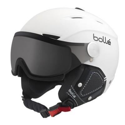 BOLLE CASQUE backline visor premium soft white & black with 1 modulator silver visor
