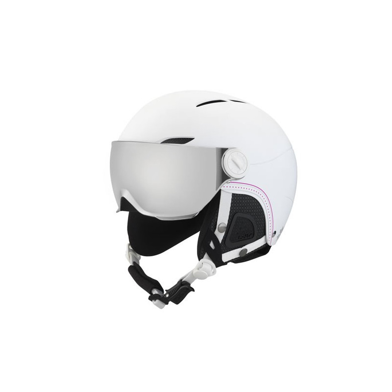 BOLLE CASQUE juliet soft white nordic with 1 silver gun visor + 1 lemon visor