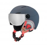 BOLLE CASQUE juliet visor navy & rose with 1 silver gun + 1 lemon visor