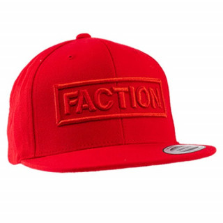 FACTION logo flexfit cap red
