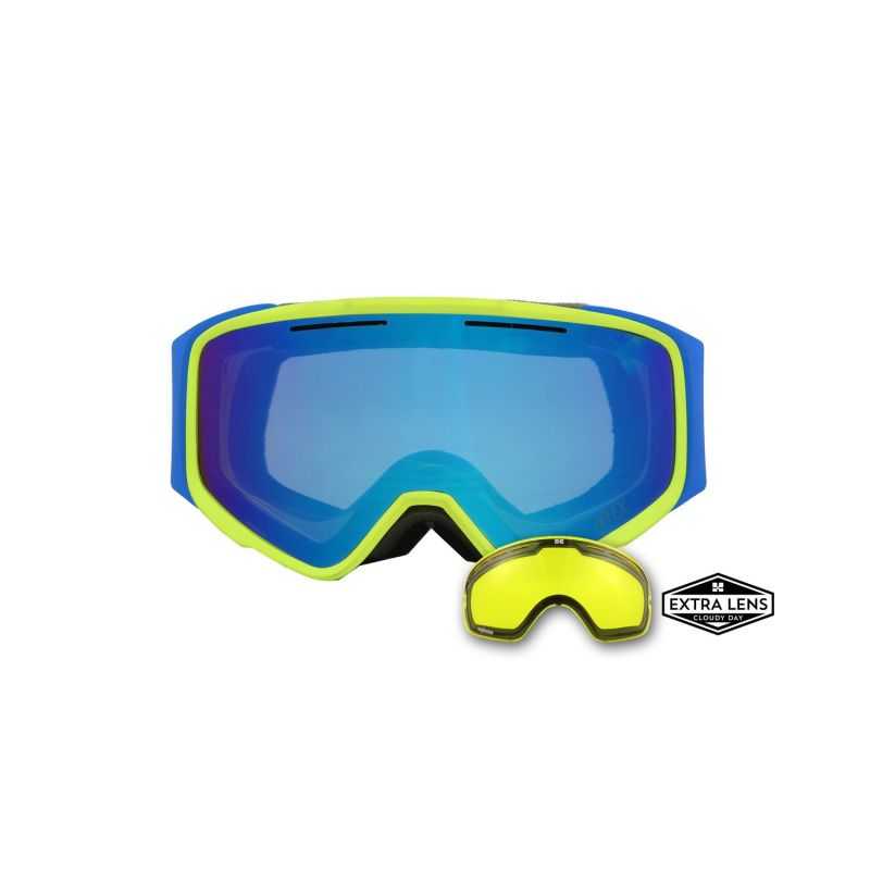 APHEX MASQUE vortex yellow / blue revo blue
