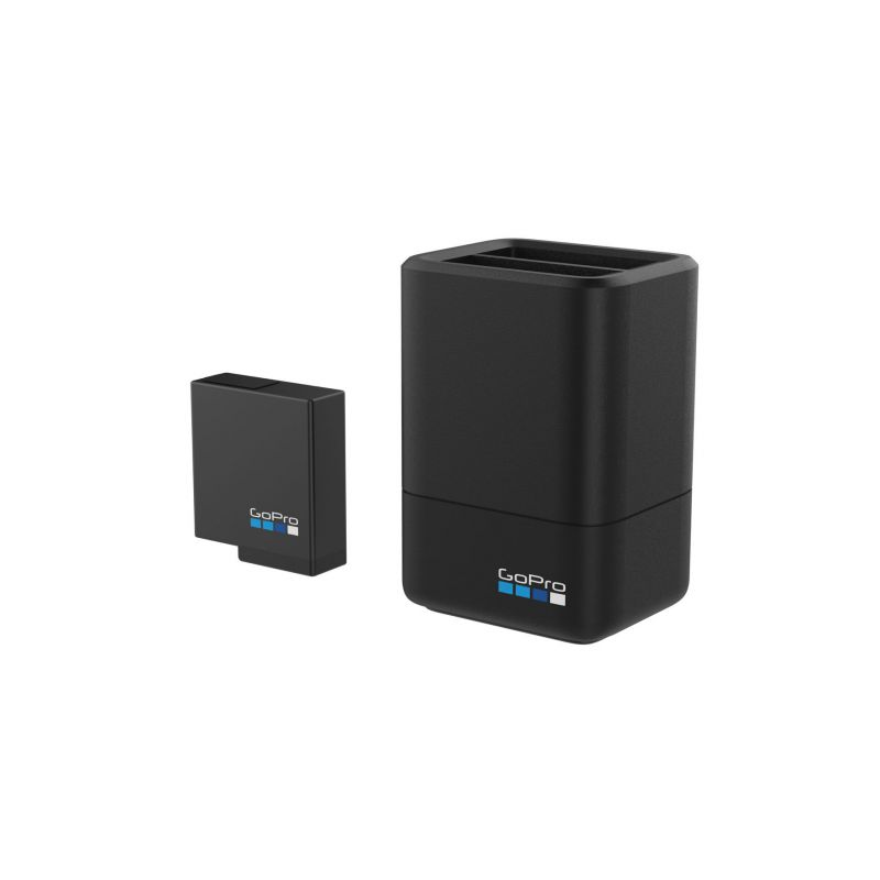 Dual Battery Charger + Battery (HERO5,6,7 Black Compatible)