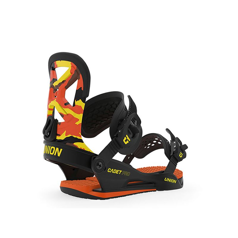 UNION bindings yth cadet pro orange camo Junior