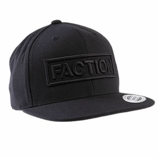 FACTION logo flexfit cap black