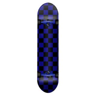 YOCAHER Graphic complete skate 7.75 checker blue/black