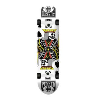 Graphic complete skate 7.75 King of Spade white