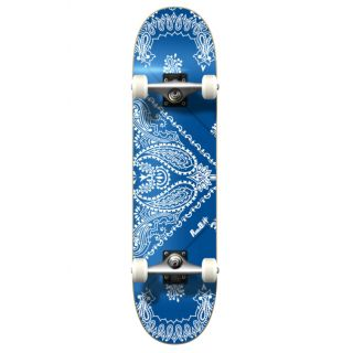 YOCAHER Graphic radical bandana blue skateboard 7.75