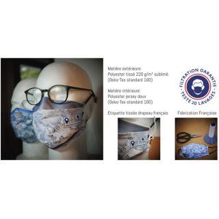 Masque barrière cat2 a pli lavable