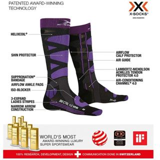 X-SOCKS CHAUSSETTES ski contr4 lady nr/vio