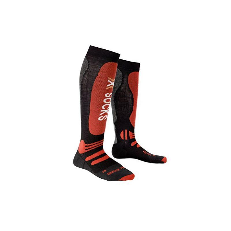 X-SOCKS CHAUSSETTES ski allround noir/rouge
