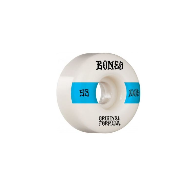 BONES WHEELS (JEU DE 4)  100'S 53MM  V4 14 WHITE WIDE