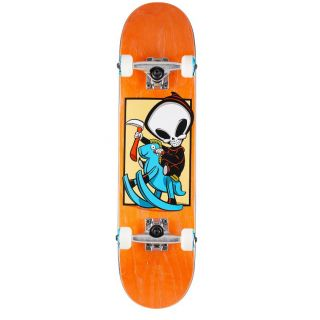 BLIND COMPLETE SKATEBOARD MID 7.25 REAPER CRAZY HORSE ORANGE