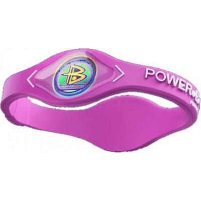 Powerbalance Bracelet Silicone Pink Avec Lettre Blanche Avec Hologramme