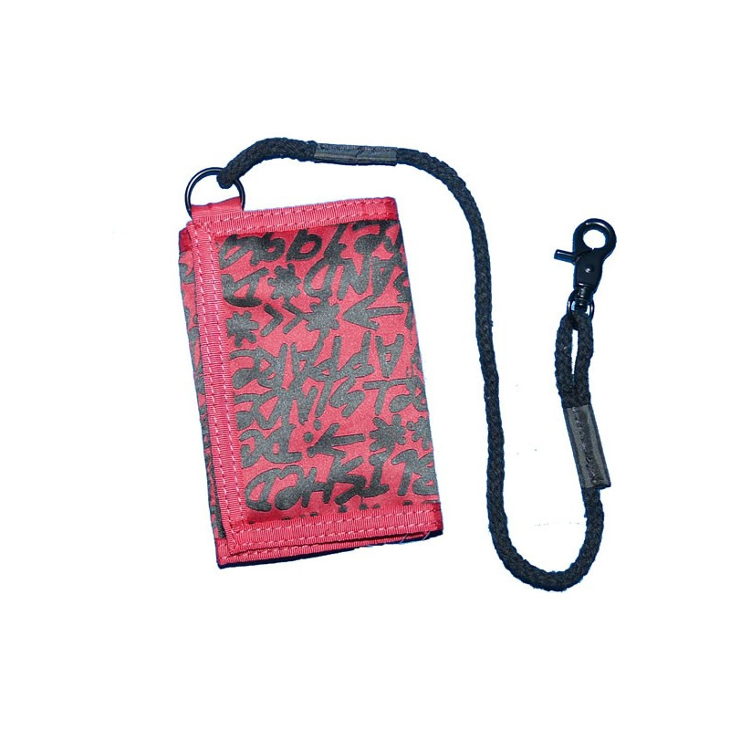 DC SHOES LOCKED DOWN TRI-FOLD WALLET DEEP RED