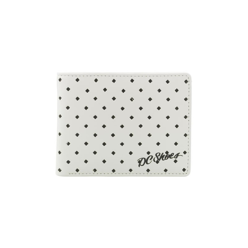 DC SHOES SEALED DEAL BI-FOLD WALLET WHITE