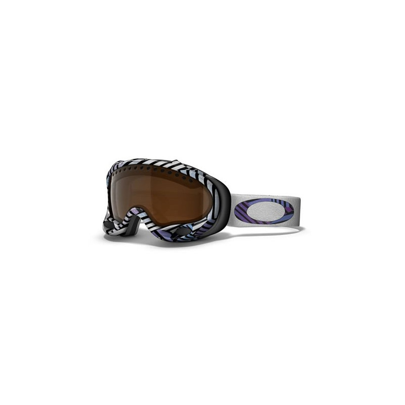 OAKLEY Shaun White A Frame Goggle Illusion Stripes W/ Black Iridium