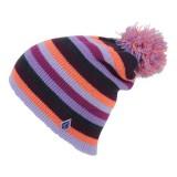 volcom bonnet  pompon, soliel beanie femme purple heart