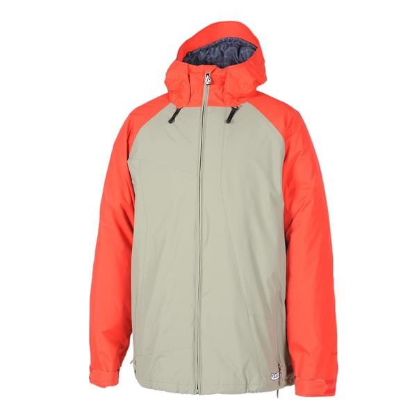 veste de ski et snowboard freestyle volcom orange et gris. Black Bedroom Furniture Sets. Home Design Ideas