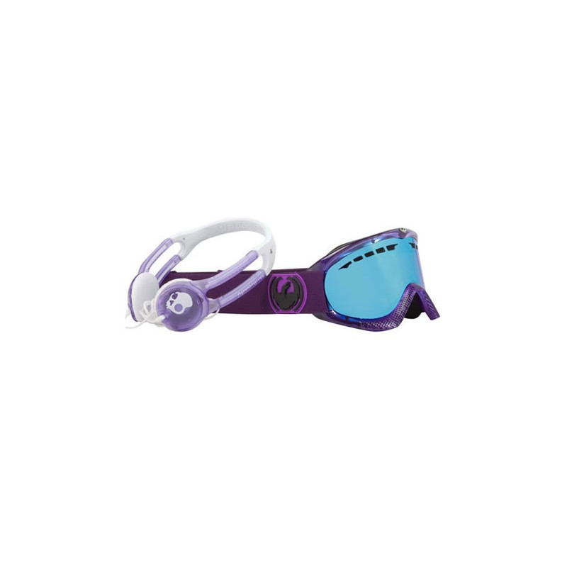 Dragon masque homme DXS SKULL CANDY PURPLE / BLUE IONIZED + AMBER REP LENS