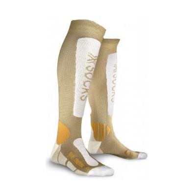 Chaussettes X-socks Ski Metal Femme Or / Blanc
