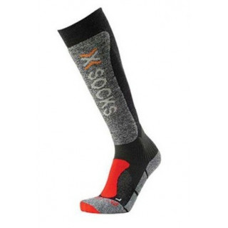 Chaussettes de ski X-Socks Skiing Light homme Anthracite / Rouge